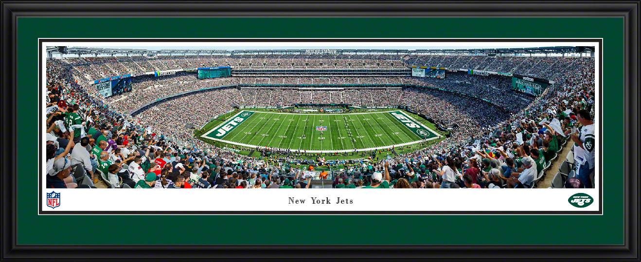 New York Jets Panoramic Poster - MetLife Stadium NFL Fan Cave Decor