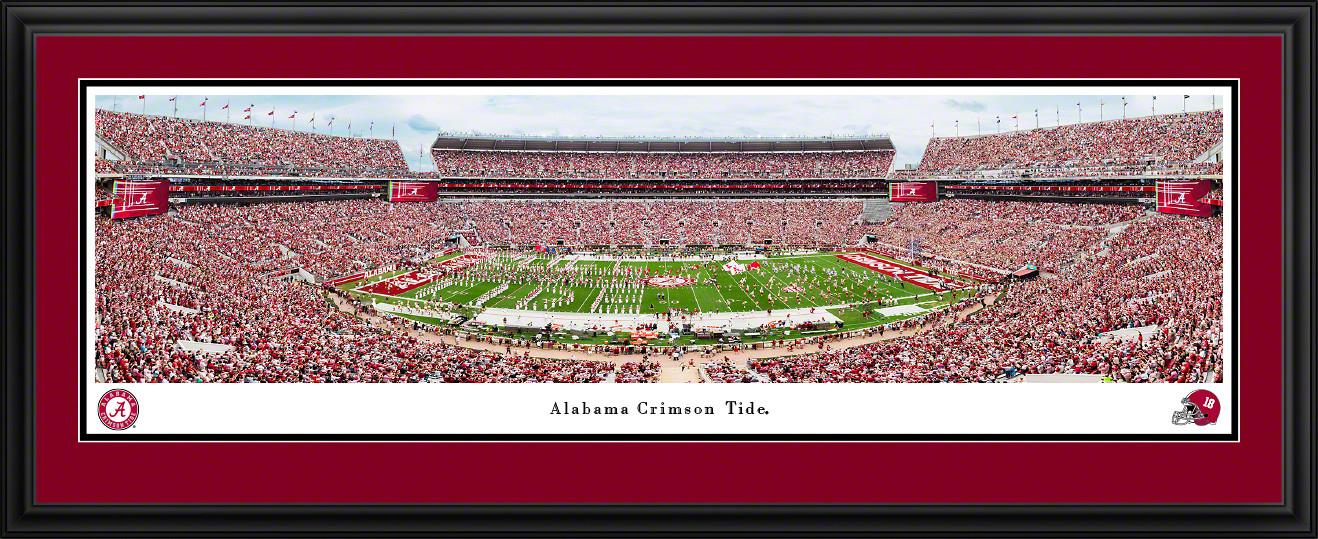 Alabama Crimson Tide Football Panoramic Picture - Bryant-Denny Stadium Wall Decor