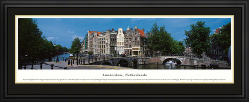 Amsterdam, Netherlands Panoramic Skyline Picture