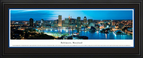 Baltimore, Maryland City Skyline Panorama - Twilight