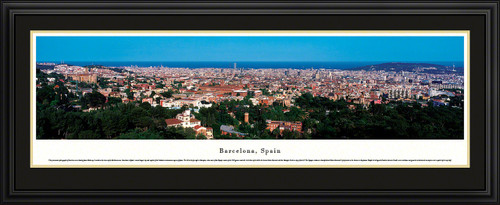 Barcelona, Spain City Skyline Panorama