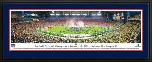 2011 BCS Football Championship Panoramic - Auburn Tigers