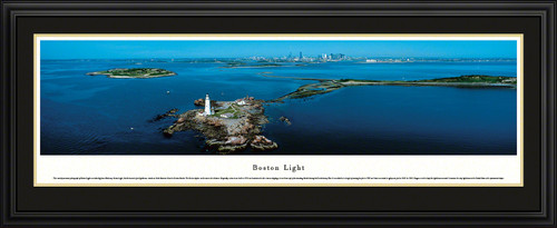 Boston Light Panoramic Picture - American Lighthouse