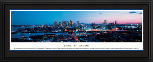 Boston, Massachusetts City Skyline Panoramic Picture - Twilight