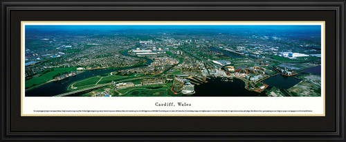 Cardiff, Wales City Skyline Panoramic Picture