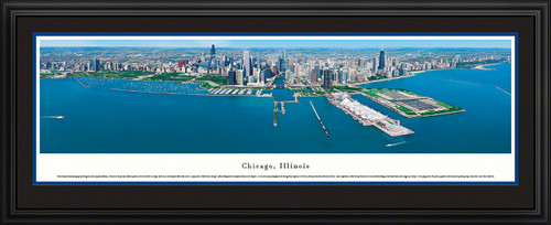 Chicago, Illinois Skyline Panoramic Picture