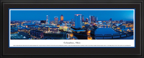 Columbus, Ohio City Skyline Panoramic Picture - Twilight