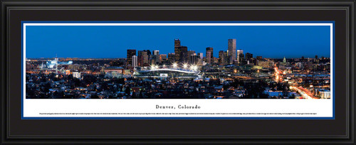 Denver, Colorado City Skyline Panorama - Twilight
