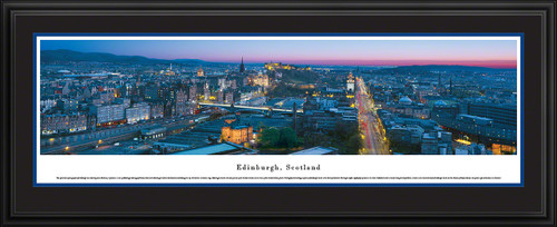 Edinburgh, Scotland City Skyline Panoramic Picture - Twilight