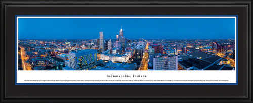Indianapolis, Indiana Skyline Panorama - Twilight