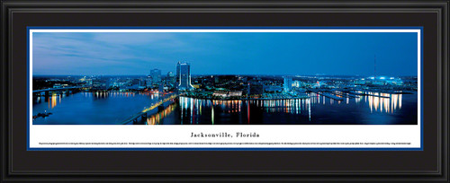 Jacksonville, Florida Panoramic Skyline Picture - Twilight