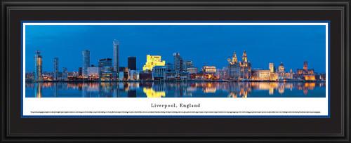 Liverpool, England City Skyline Panoramic Picture - Twilight