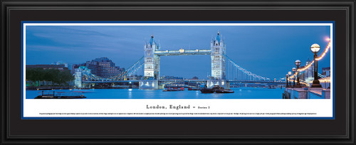 London, England Skyline Panoramic Picture - Tower Bridge - Twilight