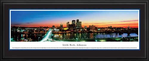 Little Rock, Arkansas Skyline Panoramic Picture - Twilight