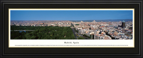Madrid, Spain Panoramic Skyline Picture