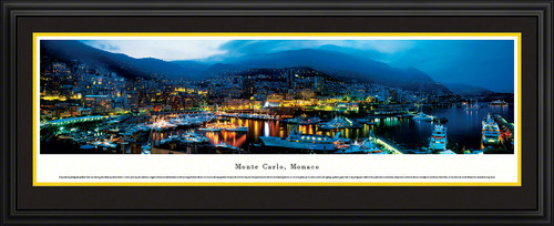 Monte Carlo, Monaco City Skyline Panoramic Picture - Twilight