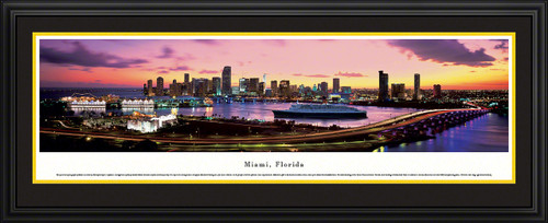 Miami, Florida City Skyline Panorama - Twilight