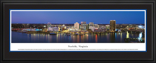 Norfolk, Virginia Skyline Panorama - Twilight