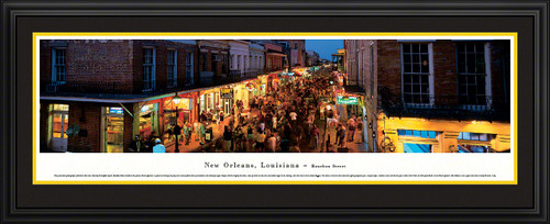 New Orleans, Louisiana - Bourbon Street Panoramic Picture