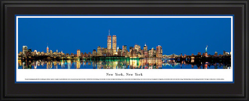 New York City Panoramic Skyline Picture - Twilight