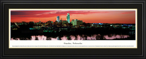Omaha, Nebraska Skyline Panoramic Picture - Twilight