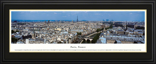 Paris, France City Skyline Panoramic Picture
