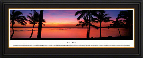 Paradise Panoramic Picture - Tropical Beach Sunset