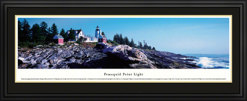 Pemaquid Point Light Panoramic Picture - Maine Lighthouse