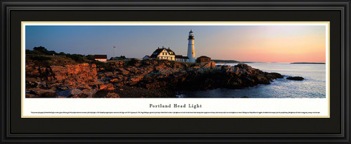 Portland Head Light Panoramic Picture - Maine Lighthouse