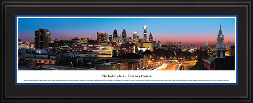 Philadelphia, Pennsylvania City Skyline Panoramic Picture - Twilight