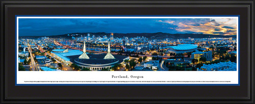 Portland, Oregon Skyline Panoramic Picture - Twilight