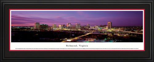 Richmond, Virginia City Skyline Panoramic Picture - Twilight