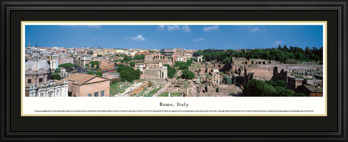 Rome, Italy City Skyline Panorama