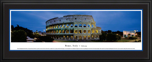 Rome, Italy - Roman Coliseum Panoramic Picture