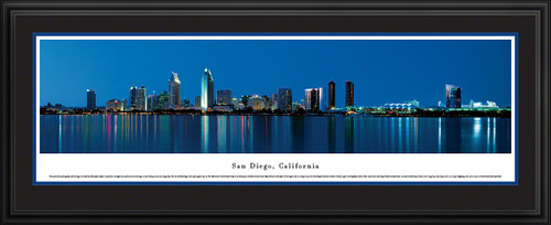 San Diego, California City Skyline Panorama - Twilight