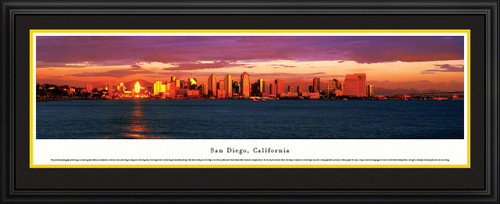 San Diego, California Panoramic City Skyline Picture - Twilight