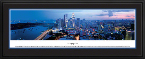 Singapore Skyline Panoramic Picture
