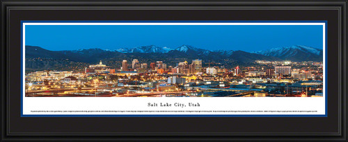 Salt Lake City, Utah Skyline Panorama - Twilight