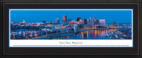 Saint Paul, Minnesota Panoramic Skyline Picture - Twilight