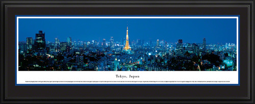 Tokyo, Japan City Skyline Panoramic Picture - Twilight