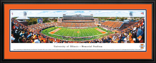Illinois Fighting Illini Panoramic - Memorial Stadium Picture - Football
