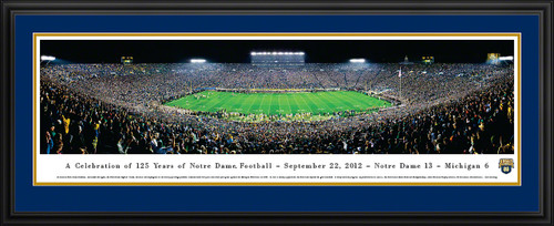 Notre Dame Fighting Irish Panorama - 125 Year Celebration Game