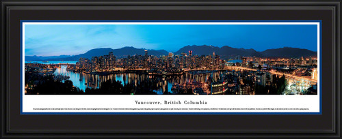 Vancouver, British Columbia, Canada City Skyline Panoramic Picture - Twilight
