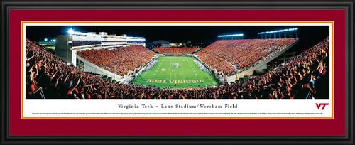 Virginia Tech Hokies Panoramic - Lane Stadium Picture End Zone