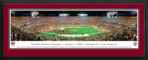 2013 BCS Football Championship Panoramic - Alabama Crimson Tide
