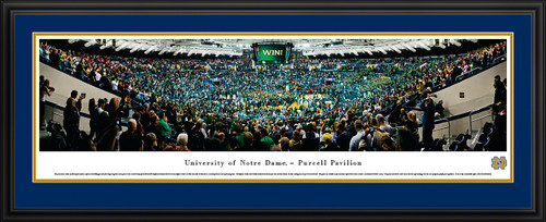 Notre Dame Fighting Irish Panoramic - Purcell Pavilion
