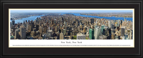 New York City Skyline Panoramic Picture - Midtown Manhattan