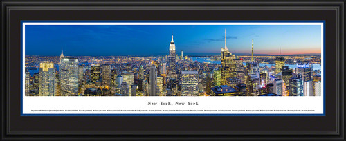 New York City Skyline Panoramic Picture - Midtown Manhattan - Twilight