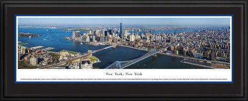 New York City Skyline Panoramic Picture - Lower Manhattan