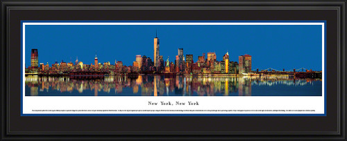 New York City Skyline Panoramic Picture - Twilight